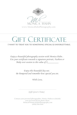 Gift Box MESSAGE 'GIFT CERTIFICATE'