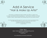 Add Professional Services  {Hair_&_MakeUp Artist}